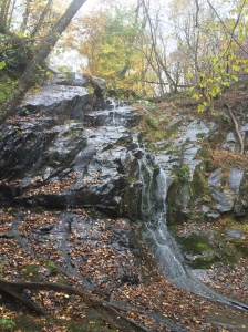 One of the three waterfalls we saw on the trail.